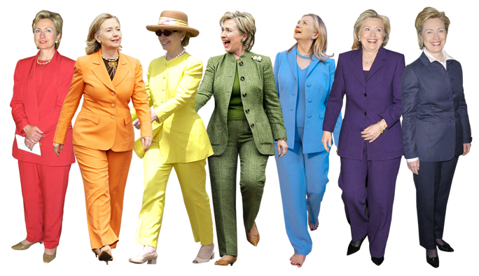 panting over her suits decrying the media fascination with
