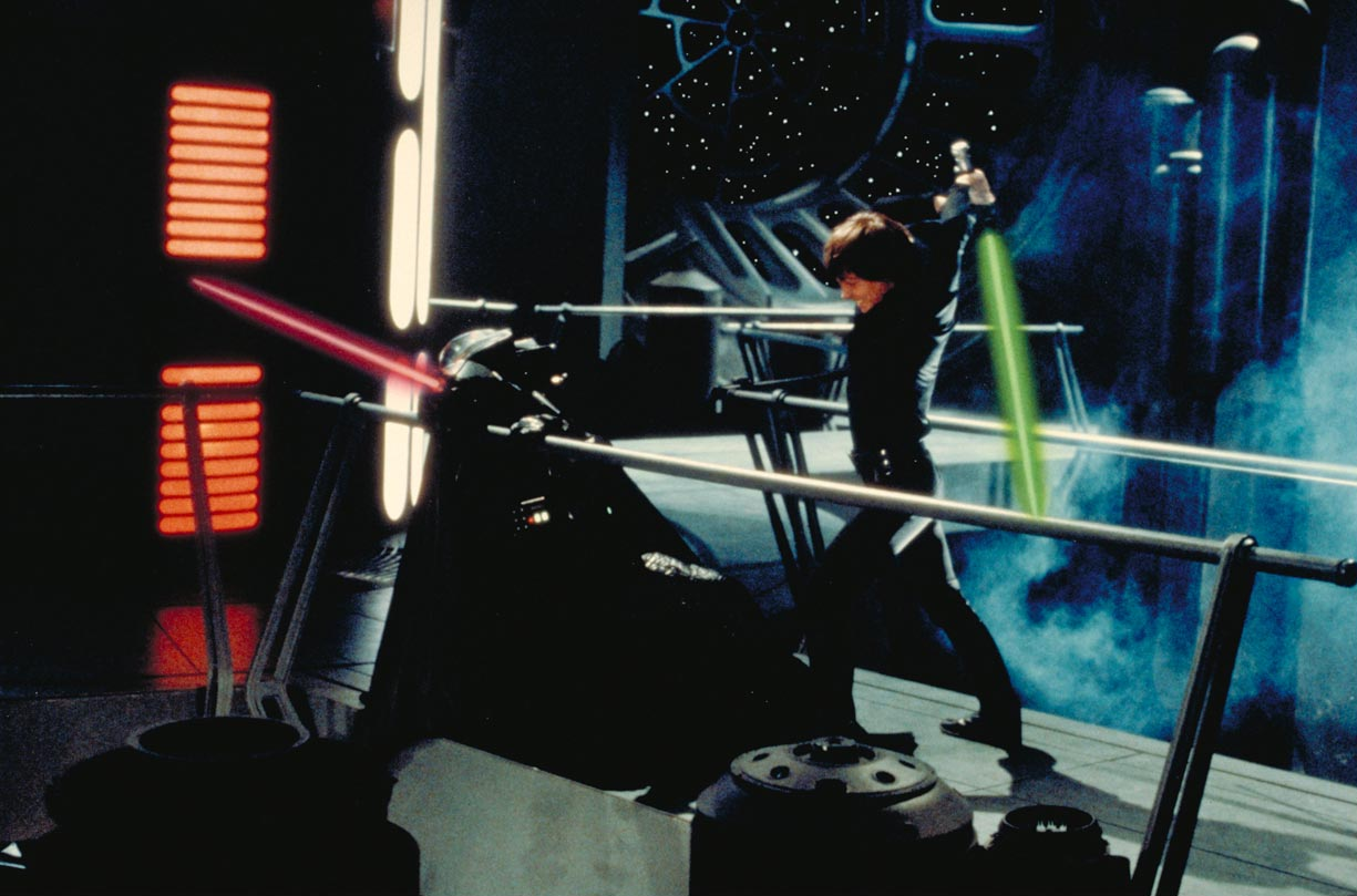 Luke Skywalker Fighting Darth Vader