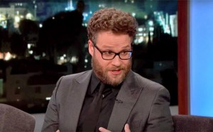Seth Rogen telling Jimmy Kimmel about eating mushrooms