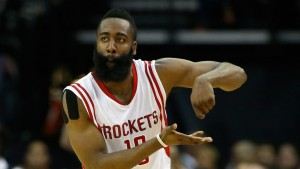 James Harden cooking celebration