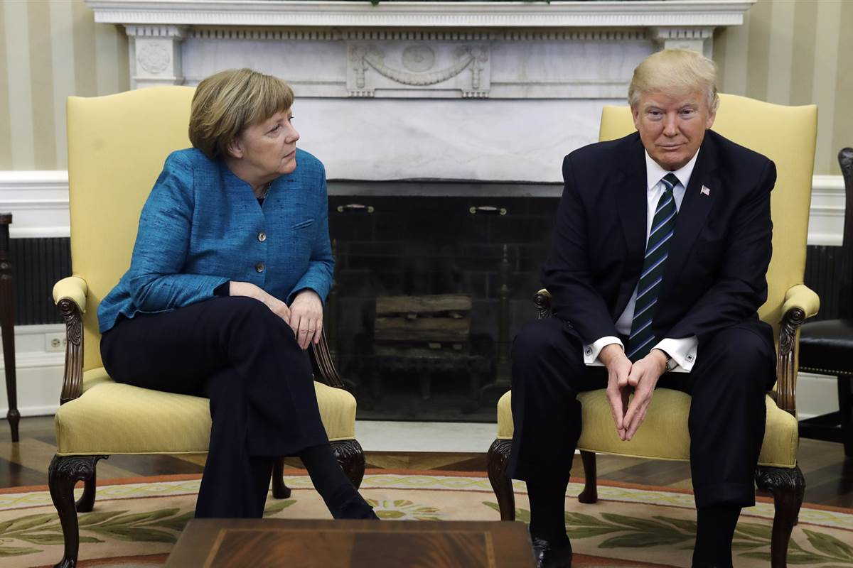 German Chancellor Angela Merkel Is an International Comfort