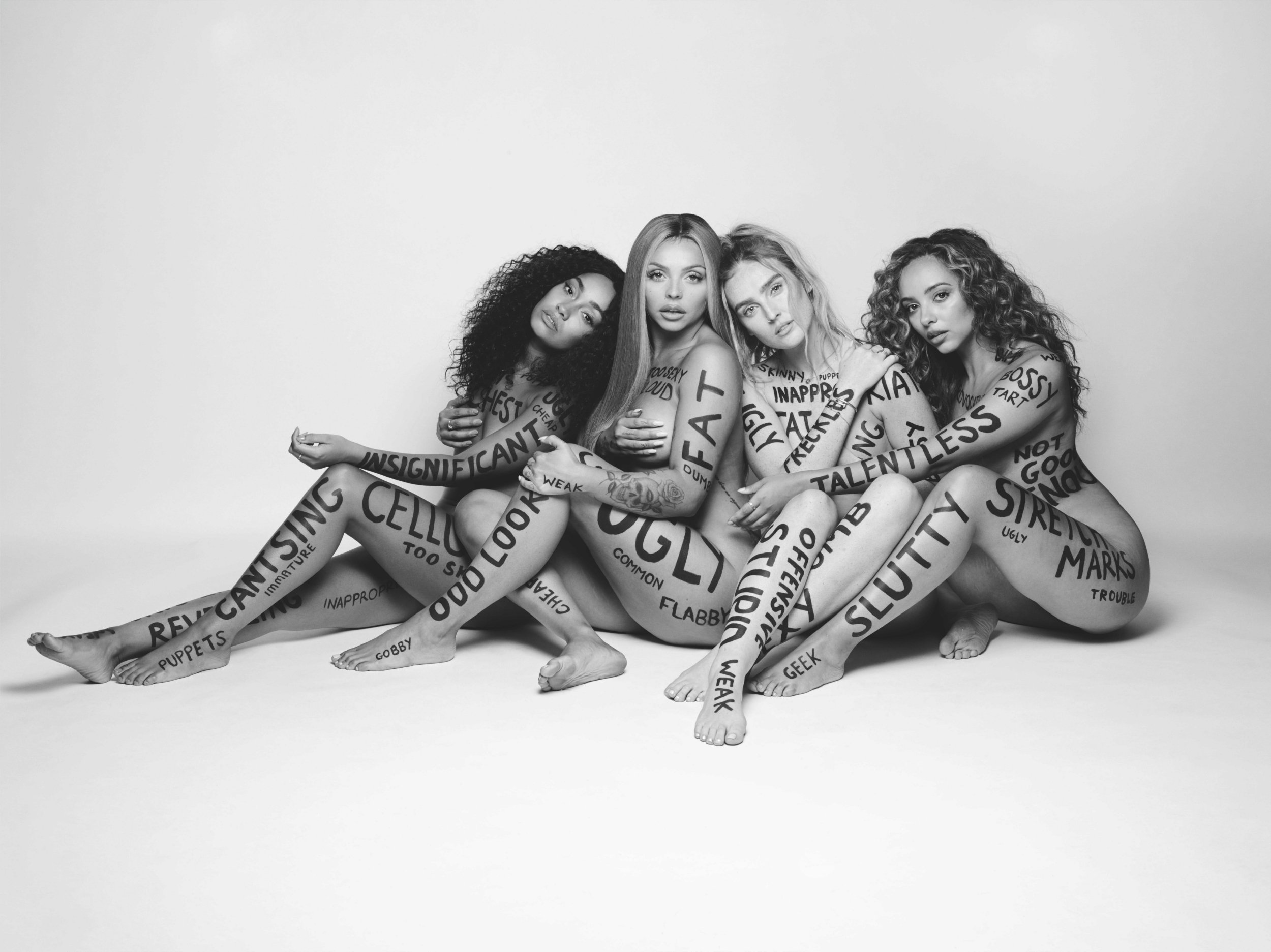"Little Mix's video for ""Strip"" goes against the song's empowering lyrics. (Image via Evening Standard)"