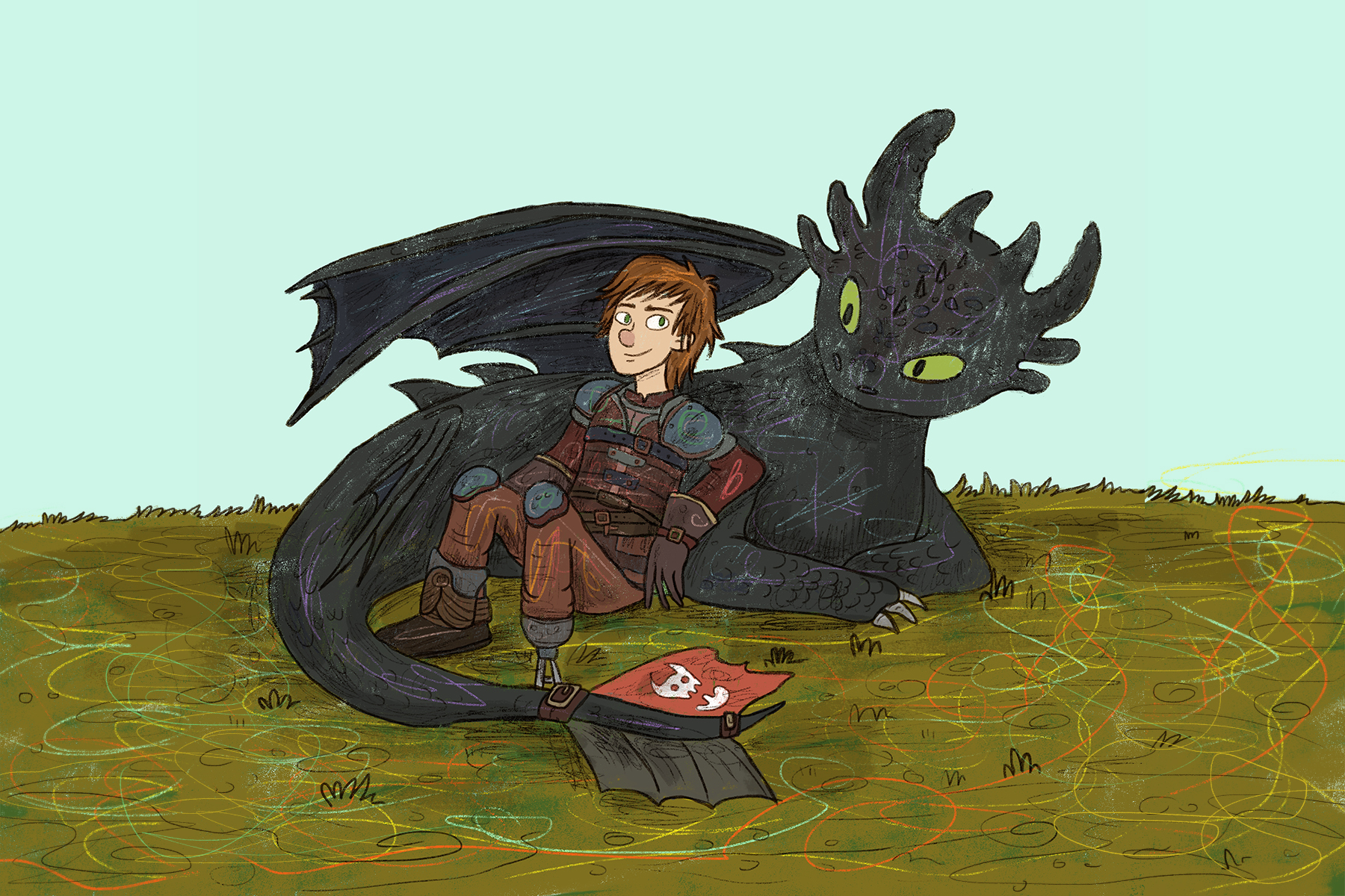 """Hidden World"" is the emotionally charged finale the ""How To Train Your Dragon"" trilogy deserves. (Illustration via Kell Kitsch, Deakin University)"