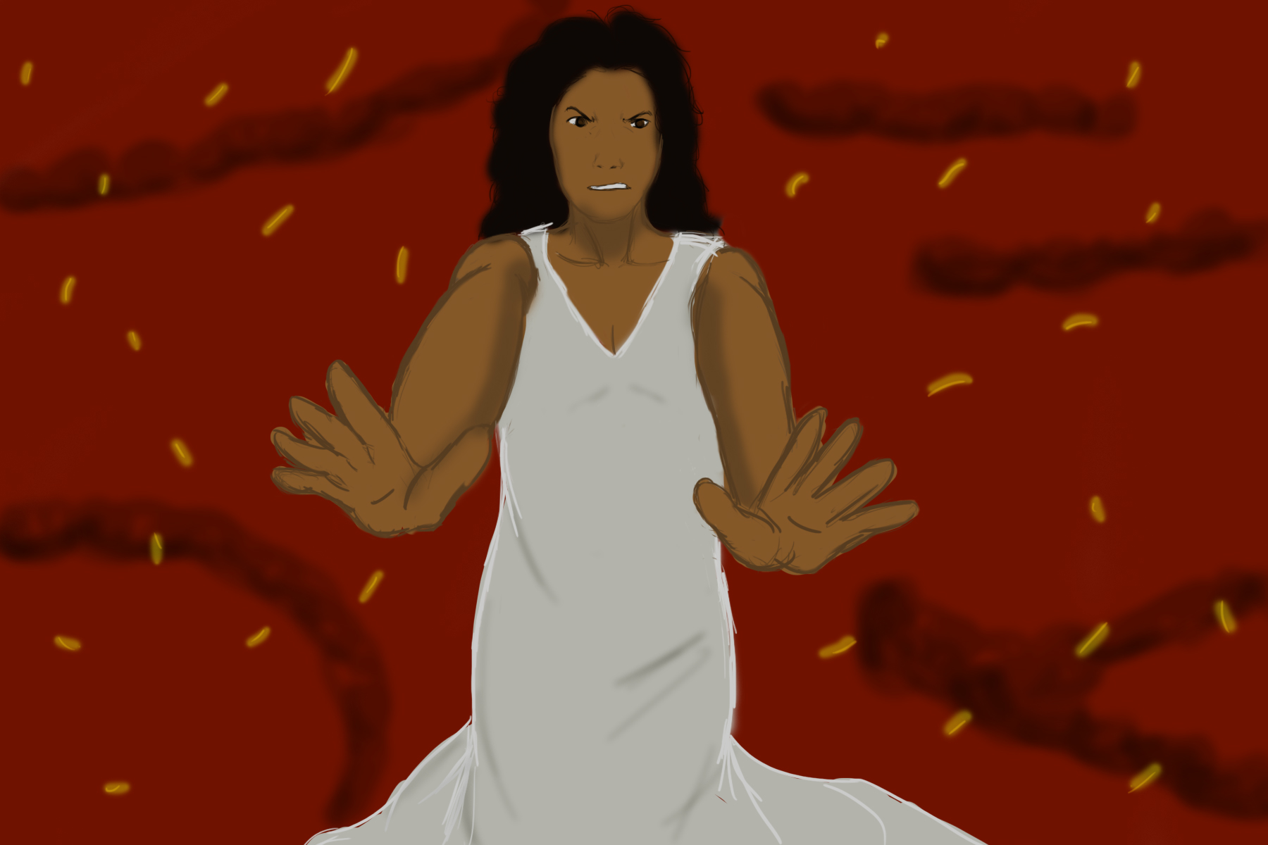 "Netflix's ""Siempre Bruja"" could've been monumental for Hispanic women. (Illustration via Jaila Desper, University of Maryland, College Park)"