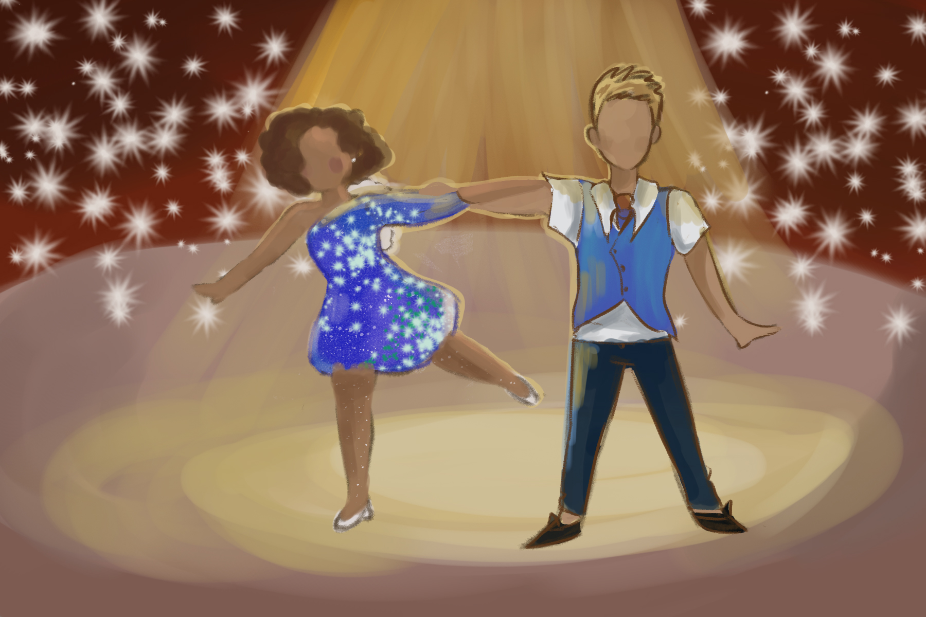 Dancing With The Stars illustration by Ashawna Linyard