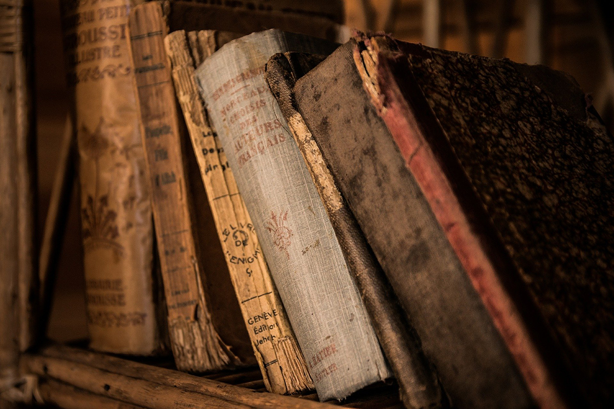For the STEM vs Humanities article, old worn out books from PixaBay