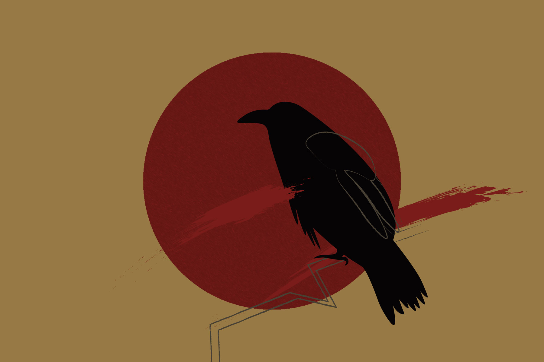 Illustration of crow from Ghost Stories, a Netflix anthology of Indian horror